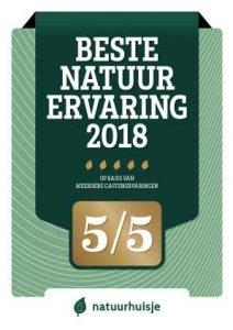 Award 2018 Natuurhuisje
